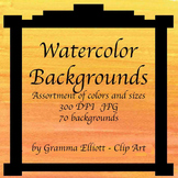 Watercolor Backgrounds - Digital Watercolor Papers