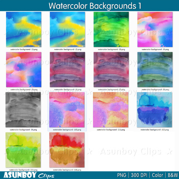 Watercolor Backgrounds - Digital Papers