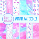 Watercolor Backgrounds  - Winter Watercolour Handpainted C