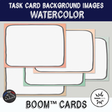 Watercolor Backgrounds for digital task cards - Boom Cards™