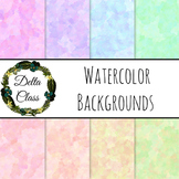 Watercolor Backgrounds in 8 Colors