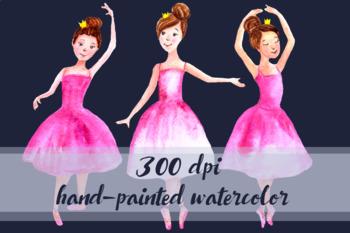Watercolor Ballerinas Clip Art Set
