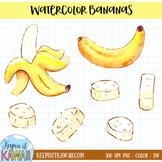 Watercolor Bananas Clip Art