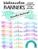 Watercolor Banner Bundle