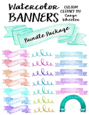 Watercolor Banner Bundle