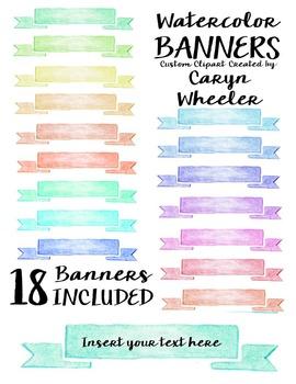 Watercolor Banner Series #2