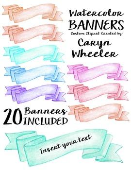 Watercolor Banner Series #3