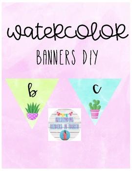Watercolor Banners DIY