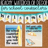 Watercolor Beach Decor Mini Set for School Counseling Office Ocean Decor