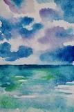 Watercolor Beach Print