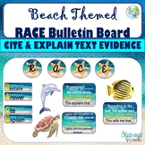 Beach Themed Reading RACE BulletinBoard {Cite & Explain Text Evidence} *UPDATED*
