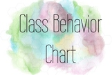 Watercolor Behavior Chart
