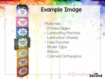 Watercolor Behavior Clip Chart