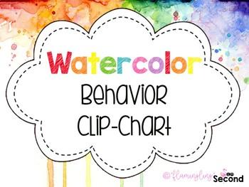 Watercolor Behavior Clip Chart
