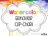 Editable Watercolor Behavior Clip Chart