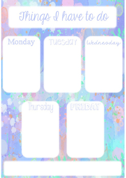 Watercolor Binder Cover, Calendar and To Do List - Sample