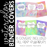 Watercolor Binder Covers