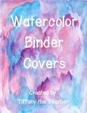 Watercolor Binder Covers