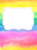 Watercolor Binder Covers  *Editable*