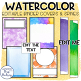 Watercolor Binder Covers and Spine Labels