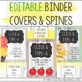 Binder Covers and Spines Editable Watercolor