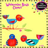 Watercolor Birds Clipart