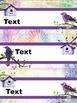 Watercolor Bird Themed Classroom Decor: Editable Name Plates