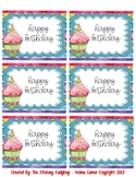 Watercolor Birthday Bag/Cup Labels (light blue)