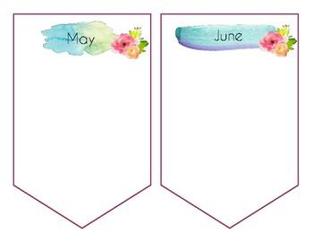 Watercolor Birthday Banner