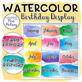 Watercolor Birthday Display