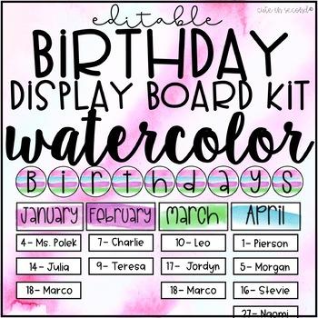 Watercolor Birthday Display Kit
