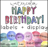 Watercolor Birthday Labels and Display