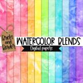 Watercolor Blends Digital Paper Clip Art