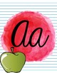 Watercolor Blot Alphabet