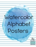 Watercolor Blot Alphabet (Print)