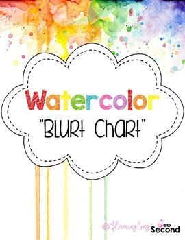 Watercolor Behavior Blurt Chart