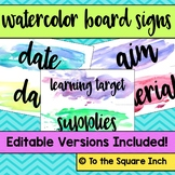 Watercolor Board Signs