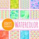 Watercolor Bobbles Digital Paper / Backgrounds / Patterns Clip Art Set