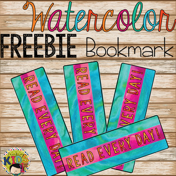 Watercolor Bookmark FREEBIE