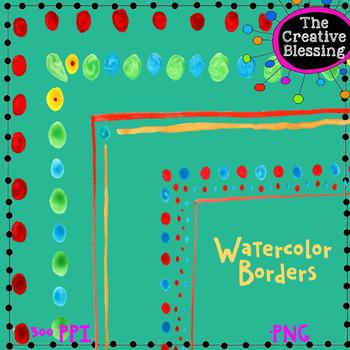 Watercolor Border Clip Art