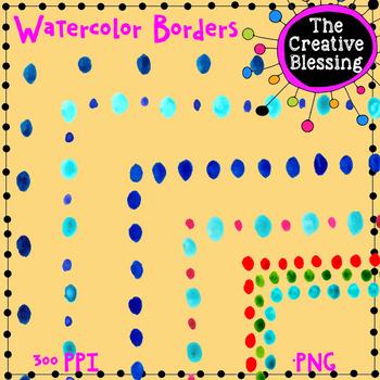 Watercolor Border Clip Art Set 3