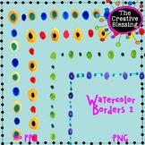 Watercolor Border Clip Art set 2