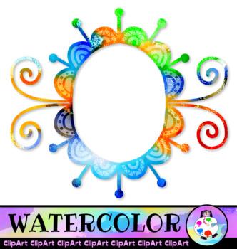 Watercolor Border ClipArt