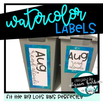 Watercolor Border Labels Ready to Print and Editable