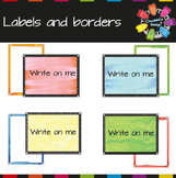 Watercolor Borders and Labels
