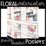 Watercolor Floral - Colorful Floral Growth Mindset Posters