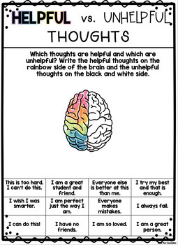 Watercolor Brain Growth Mindset Poster