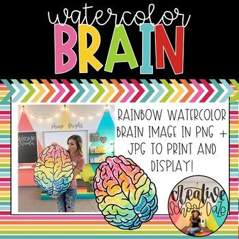 Watercolor Brain image