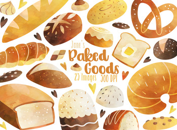 Watercolor Bread Clipart By Digitalartsi Teachers Pay Teachers