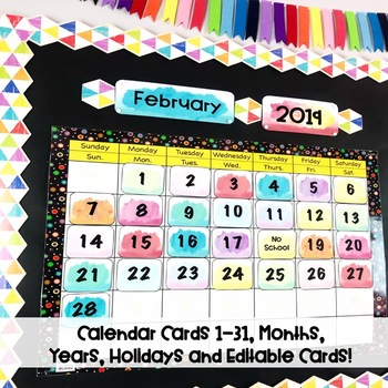Watercolor Bright Calendar Kit
